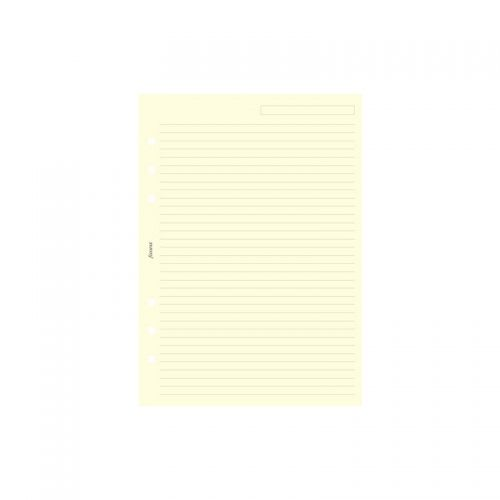 Пълнител за органайзер Filofax Cotton Cream Ruled Notepaper, Personal
