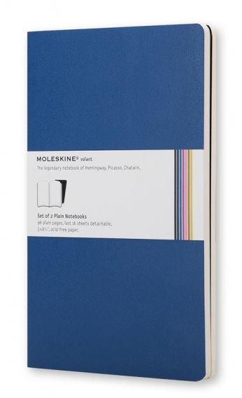 Комплект 2 сини тефтера Moleskine Volant Notebook с бели листа