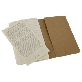 Комплект тефтери Moleskine Cahier Journals, Kraft Brown, 13 х 21 см.