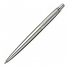 Химикалка Parker Jotter Premium Shiny Stainless Steel Chiselled