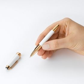 Ролер Montblanc Meisterstuck 162 Solitaire LeGrand White