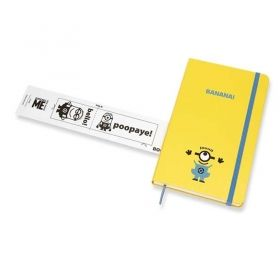 Син тефтер Moleskine Minions Bello! Large с широки редове, Limited Edition