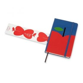 Черен тефтер Moleskine Snow White Red Bow Pocket с широки редове, Limited Edition