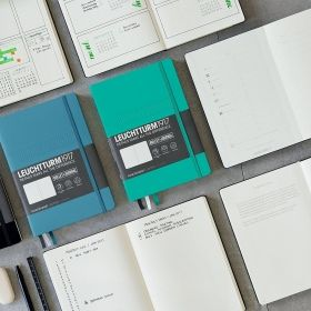 Тефтер А5 Leuchtturm1917 Notebook Whitelines Link, твърди корици