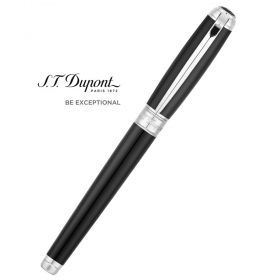 Писалка S.T. Dupont Line D Large Black natural lacquer & Palladium