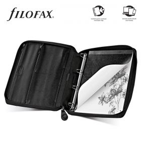 Папка - органайзер Filofax Pennybridge Zipped Folio - Black с дръжка, A4