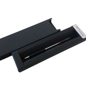 Химикалка Tombow 707 de Luxe Silver&Black with red ball trim