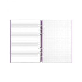 Тефтер Filofax Clipbook Classic A5 Notebook Poppy с метални рингове