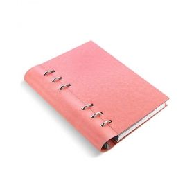 Тефтер Filofax Clipbook Classic Pastels A5 Notebook Rose с метални рингове