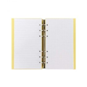 Тефтер Filofax Clipbook Classic Pastels A5 Notebook Lemon с метални рингове