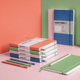 Тефтер А5 Leuchtturm1917 Notebook Medium Navy Squared, твърди корици