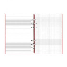Тефтер Filofax Clipbook Classic A5 Notebook Metallic Silver с метални рингове